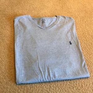 Men's v neck Polo T-shirt